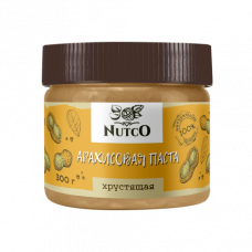 Арахисовая паста NUTCO хрустящая 300 гр